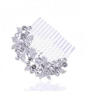 Ragyogó kristályos menyasszonyi hajfésű