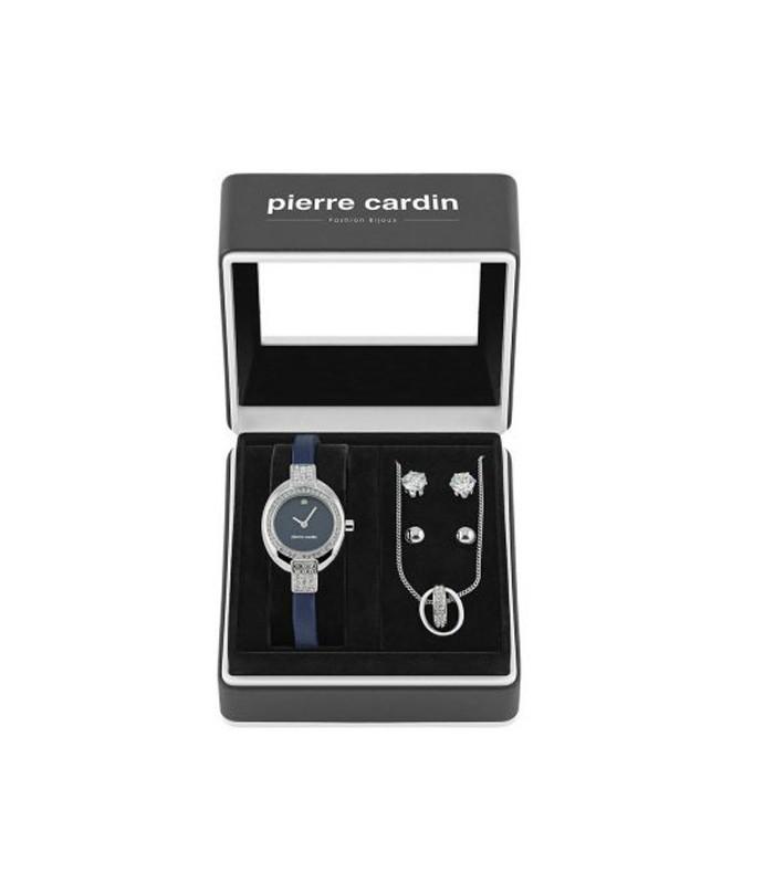 Pierre Cardin kék bőr szíjas karóra és ékszer szett PCX5697L244 Már... fee3973ba6