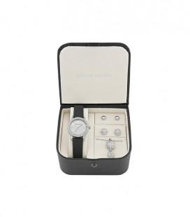 Pierre Cardin fekete, kristályos karóra és ékszer szett PCX4378L190