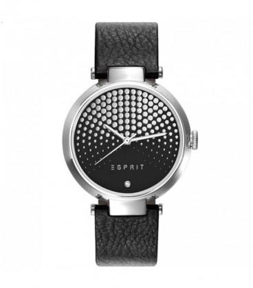 Esprit fekete bőr szíjas női karóra ES109032009