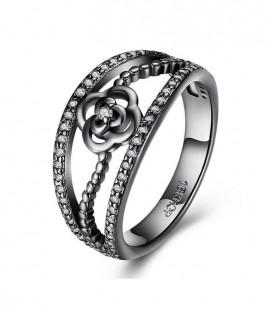 Fekete rózsa, kristályos gyűrű