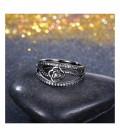 Fekete rózsa, különleges, kristályos gyűrű