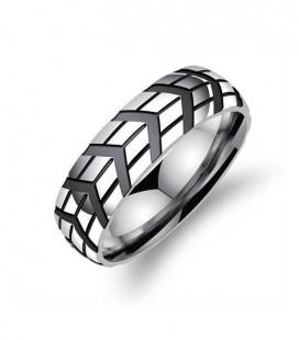 Titánium férfi gyűrű fekete bevonattal