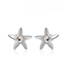 Swarovski kristályos csillag fülbevaló, ródium bevonattal