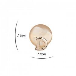 bizsu fülbevaló Macskaszem köves D fülbevaló - bézs