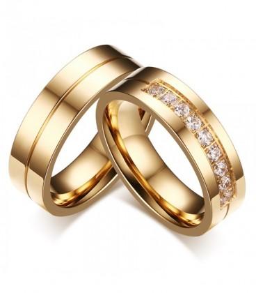 Klasszikus stílusú női nemesacél karikagyűrű