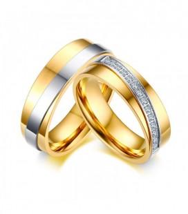 Ezüst sávos, exkluzív férfi nemesacél karikagyűrű