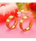 Kristályos, aranyozott női nemesacél karikagyűrű