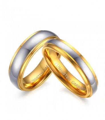 Arany sávos női tungsten karikagyűrű