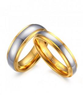 Arany sávos férfi tungsten karikagyűrű