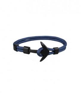 Anchor karkötő fekete horgonnyal - acélkék színben