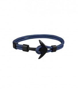 Anchor karkötő fekete horgonnyal - facélkék színben