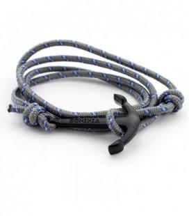 Anchor karkötő fekete horgony dísszel - grey