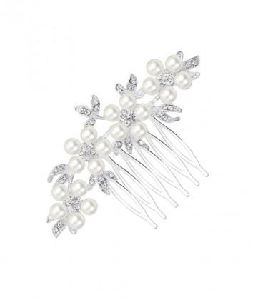Kristályos-gyöngyös menyasszonyi hajfésű