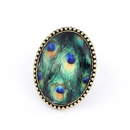 bizsu gyűrű Pávatollas vintage gyűrű