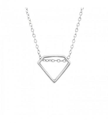 Ezüst gyémánt medál nyaklánccal