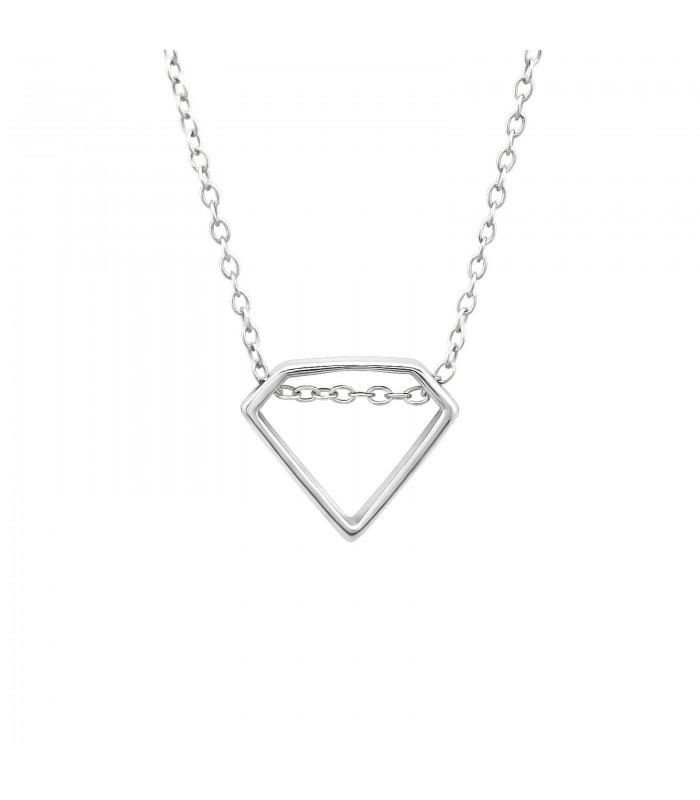 hárs egyetlen úszó gyémánt nyaklánc