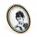 bizsu gyűrű Audrey Hepburn arcképes vintage gyűrű