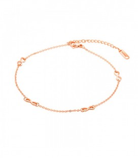 Infinity nemesacél bokalánc - rozé arany