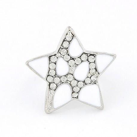 bizsu gyűrű Kristályos szerencsecsillag gyűrű