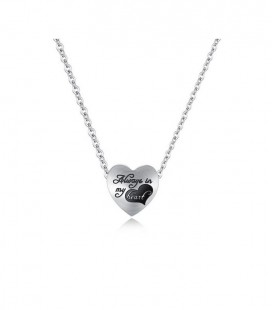 Titánium, szív medálos nyaklánc - always in my heart