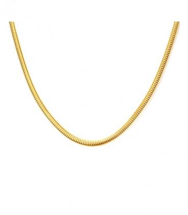 Nemesacél aranyozott kígyó nyaklánc (50 cm)