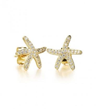 Swarovski kristályos tengeri csillag fülbevaló, arany bevonattal