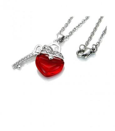 Kulcs a szívedhez nemesacél nyaklánc mikro cirkóniával
