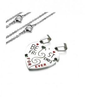 Best Friends Forever, törhető szív medál nyaklánccal
