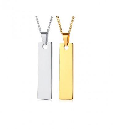 Gravírozható nemesacél nyaklánc szett arany-ezüst színben