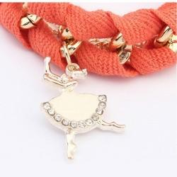 bizsu karkötő Balerina charm karkötő - narancs