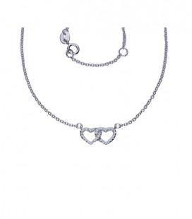 Dupla szíves ezüst nyaklánc