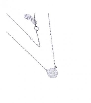 Napkorong ezüst nyaklánc medállal
