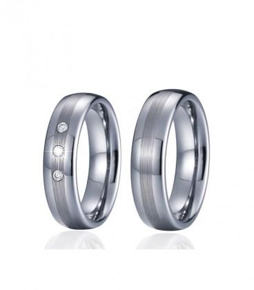 3 sávos wolfram férfi karikagyűrű