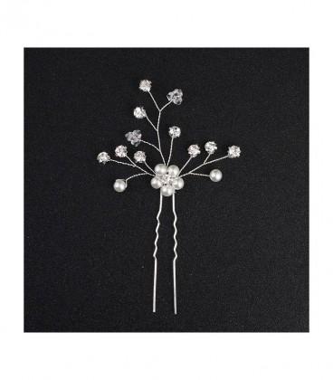 Kézzel készített hajtű gyöngyökkel és kristályokkal