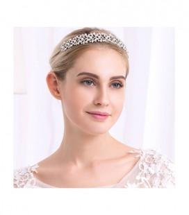 Gyöngyös, levél indás tiara menyasszonyoknak