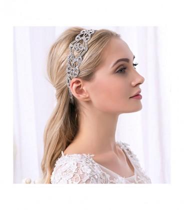 Exkluzív, kristálydíszes hajpánt menyasszonyoknak