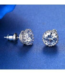esküvői fülbevaló Swarovski kristályos kör fülbevaló
