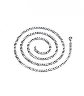 Sűrű láncszemes nemesacél nyaklánc (60 cm - 5 mm)