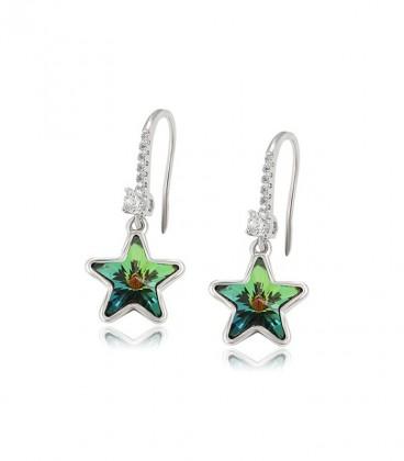 Swarovski kristályos csillag fülbevaló