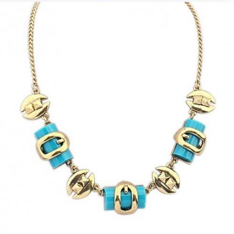 bizsu nyaklánc Egyedi formákkal díszített bizsu nyaklánc- Kék