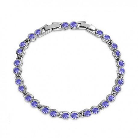 kristályos karkötő Kerek kristályos, elegáns karlánc - lila