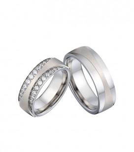 Kristálysávos, exkluzív női nemesacél karikagyűrű