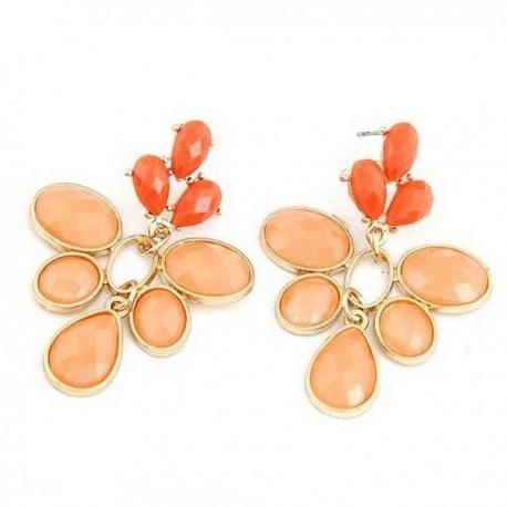 bizsu fülbevaló Narancsvirág bizsu fülbevaló