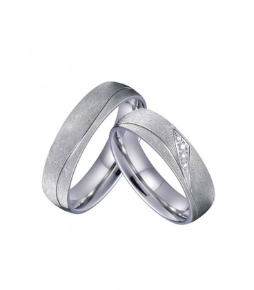 Egyedi csiszolású, exkluzív férfi nemesacél karikagyűrű
