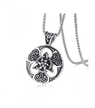 Triquetra, kelta szimbólumos acél medál nyakláncon
