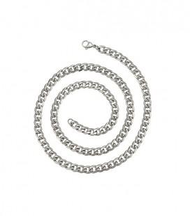 Fonott szemes acél nyaklánc férfiaknak (7 mm x 61 cm)