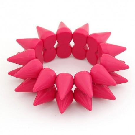 bizsu karkötő Rózsaszín szegecses karkötő