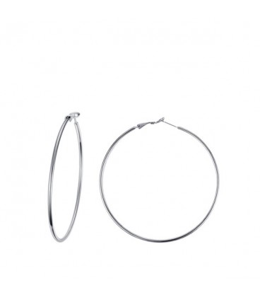 nemesacél fülbevaló Basic nemesacél karika fülbevaló (5 cm)