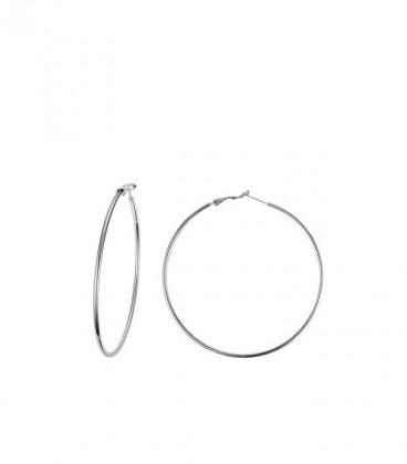 Basic nemesacél karika fülbevaló (4 cm)
